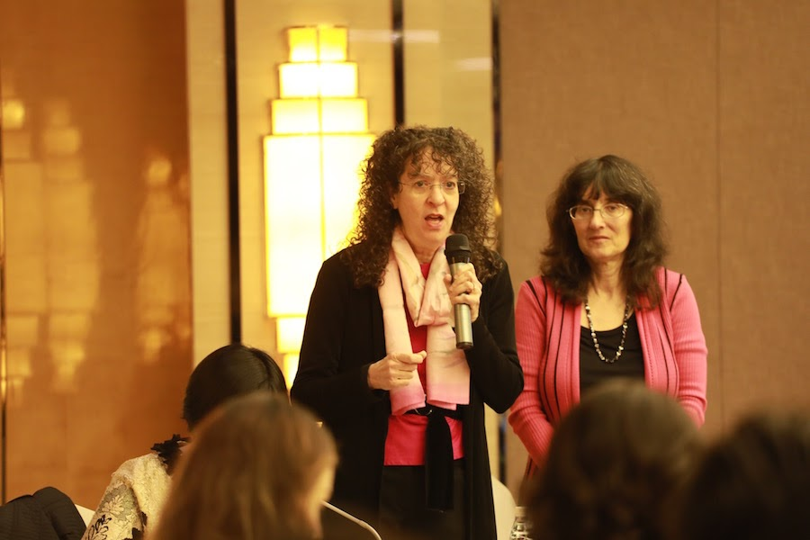 Julie, with Joanna, day 1, Advanced Training in China